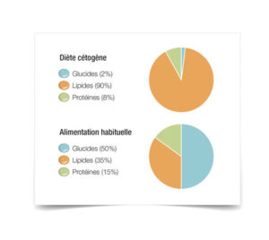 schéma comparatif alimentation cétogène
